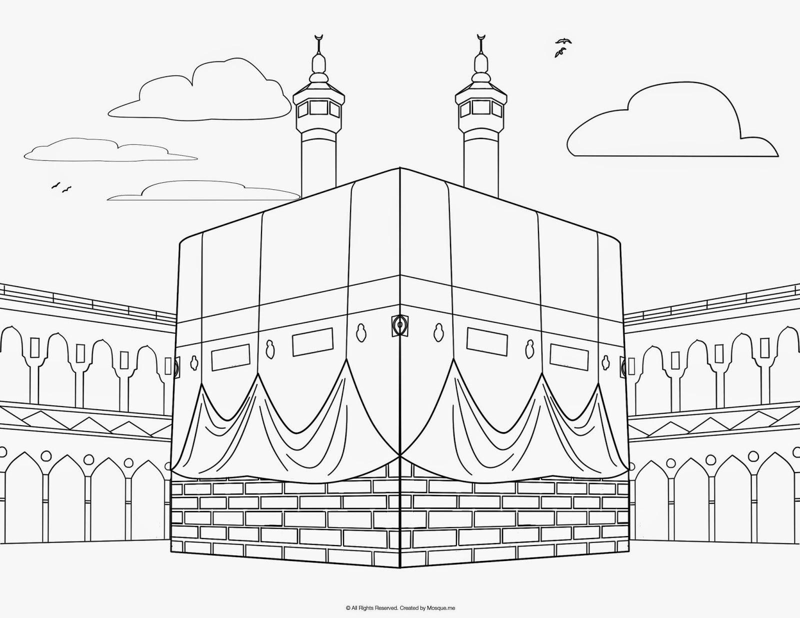 Gambar Mewarnai Islami