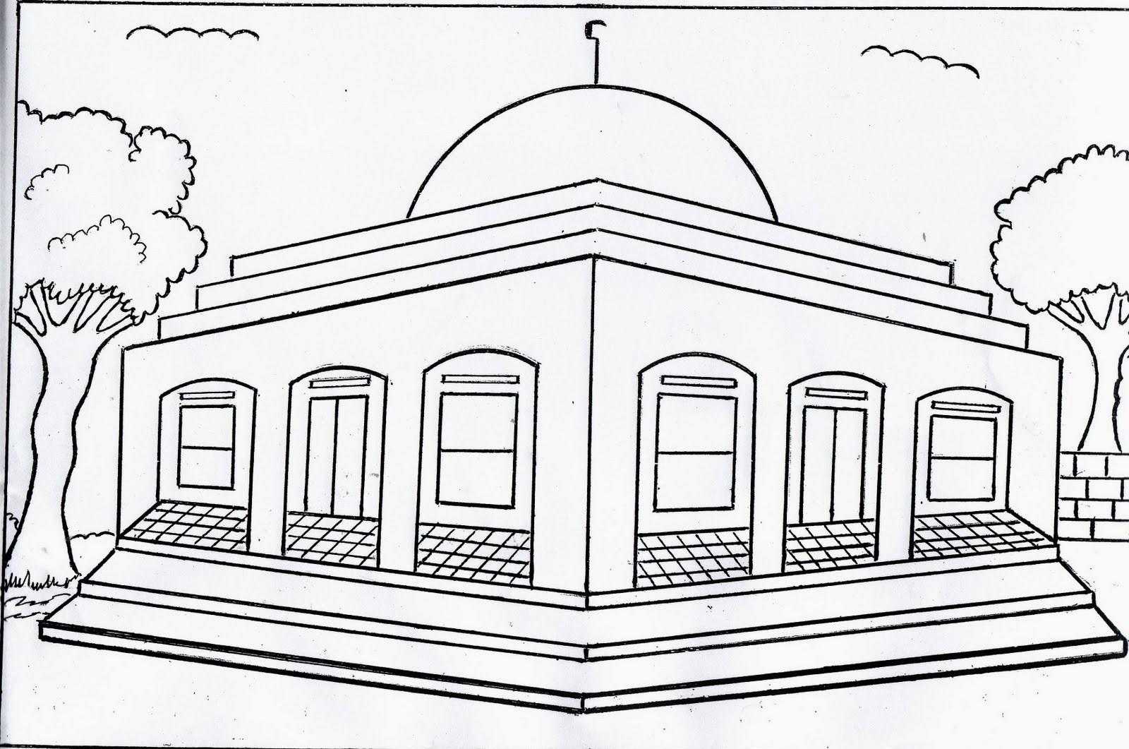 Gambar Mewarnai Islami Anak Tk Dan Sd Terbaru 2019
