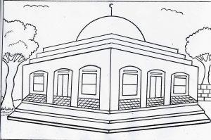 Kumpulan Gambar Mewarnai Masjid Resolusi Bagus 2019 Marimewarnaicom