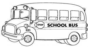 Gambar Mewarnai Kendaraan Bis Sekolah