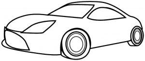Gambar Mewarnai Kendaraan Mobil