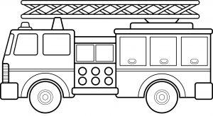 Gambar Mewarnai Kendaraan Mobil Pemadam Kebakaran