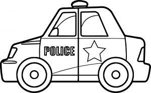 Gambar Mewarnai Kendaraan Mobil Polisi