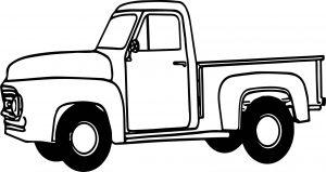 Gambar Mewarnai Kendaraan Mobil Tua