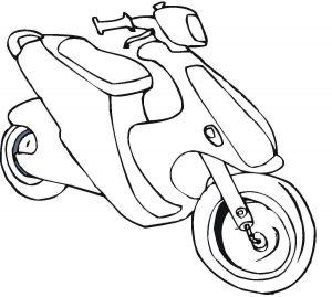 Gambar Mewarnai Kendaraan Motor
