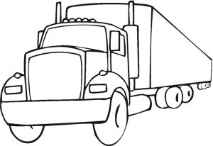 Gambar Mewarnai Kendaraan Truk Tronton