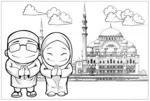 [Paling banyak dipilih] Gambar Mewarnai Islam