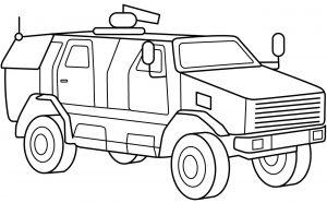Mewarnai Gambar Kendaraan Militer