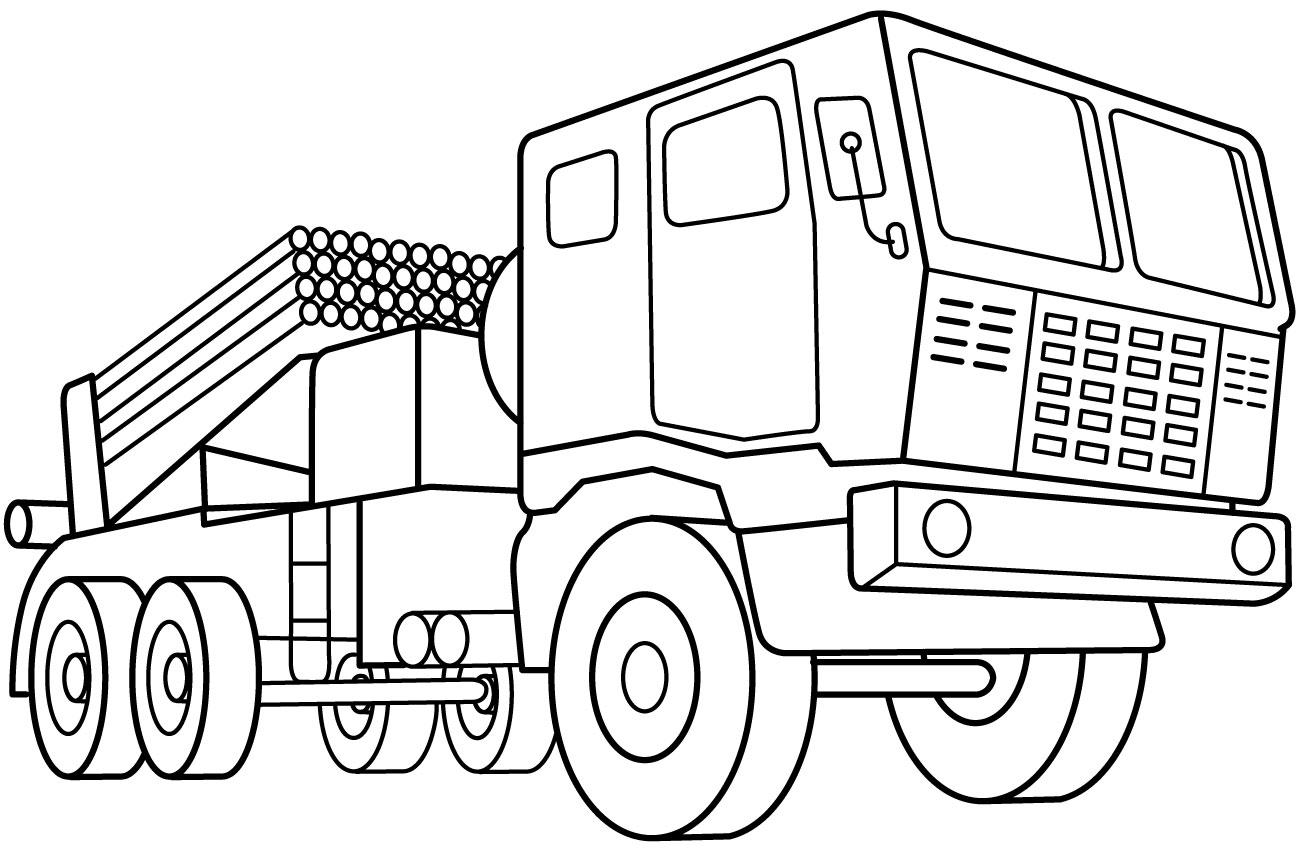 √Gambar Mewarnai Kendaraan Untuk Anak TK Dan SD