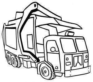 Mewarnai Gambar Kendaraan Truk Sampah