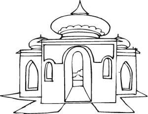 Kumpulan Gambar Mewarnai Masjid Resolusi Bagus 2018 Marimewarnai Com