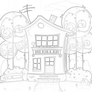 gambar mewarnai rumah 3