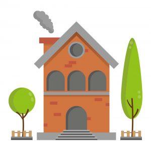 gambar mewarnai rumah berwarna 2