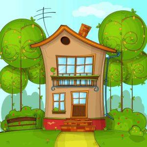 gambar mewarnai rumah berwarna 3