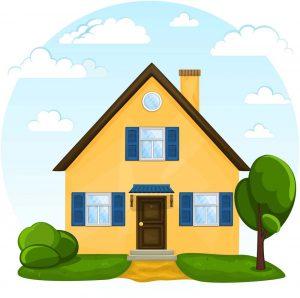 gambar mewarnai rumah berwarna