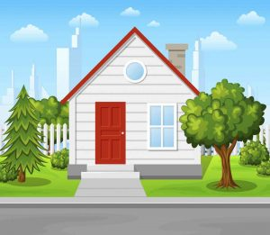 gambar mewarnai rumah berwarna 4