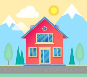 gambar mewarnai rumah berwarna 5