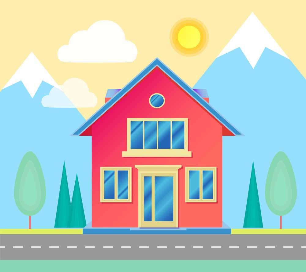 √Gambar Mewarnai Rumah Untuk TK Dan SD 2020 Marimewarnai