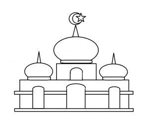 91  Gambar Masjid Kartun Berwarna Terlihat Cantik