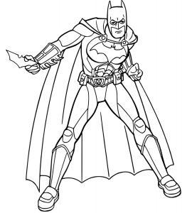 Gambar Mewarnai Batman Senjata
