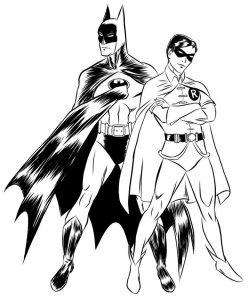 Gambar Mewarnai Batman Dan Robin 2