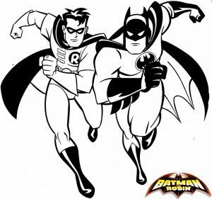 Gambar Mewarnai Batman Robin