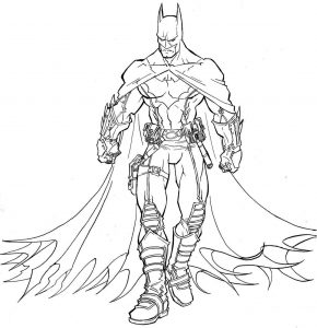 Gambar Mewarnai Batman Full Armor