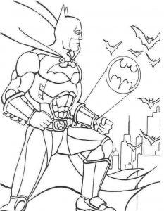 Gambar Mewarnai Batman Untuk Anak