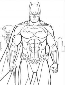 Gambar Mewarnai Batman Gotham