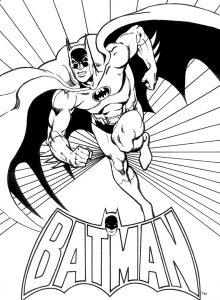 Gambar Mewarnai Batman Logo