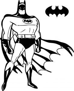 Gambar Mewarnai Batman Logo Kelelawar
