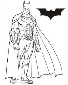 Gambar Mewarnai Batman Cool