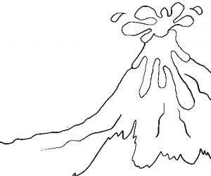 Belajar Mewarnai Gunung Merapi