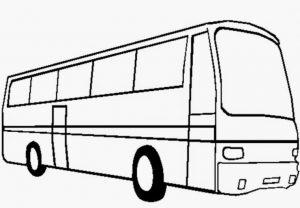 Gambar Mewarnai Bus