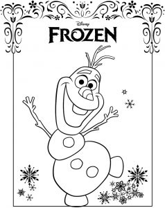 Gambar Mewarnai Frozen Olaf