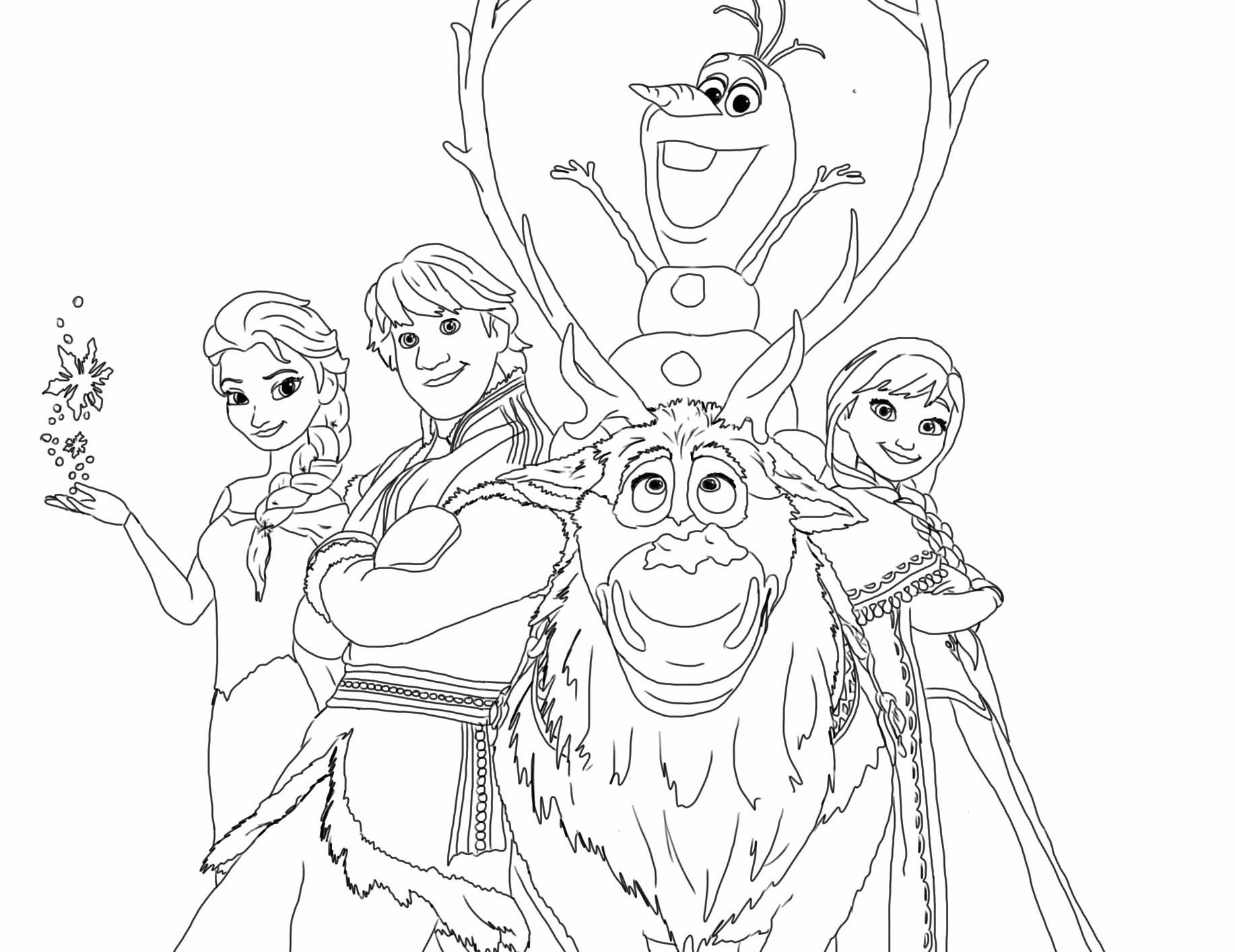 Kumpulan Gambar Mewarnai Frozen Untuk Tk Dan Sd Marimewarnaicom