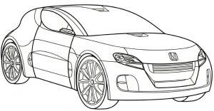 Gambar Mewarnai Mobil Honda