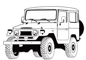 Gambar Mewarnai Mobil Jeep