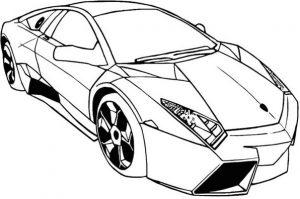 Gambar Mewarnai Mobil Lamborghini