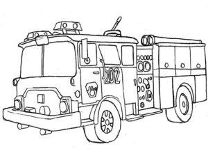Gambar Mewarnai Mobil Pemadam Kebakaran 1