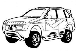 Gambar Mewarnai Mobil SUV