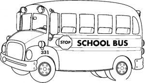 Gambar Mewarnai Mobil Sekolah