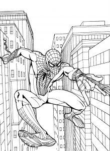 Gambar Mewarnai Spiderman 1