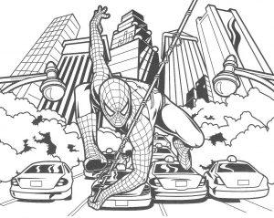 Gambar Mewarnai Spiderman 2