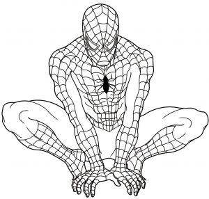Gambar Mewarnai Spiderman 3