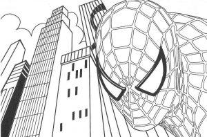Gambar Mewarnai Spiderman Avengers