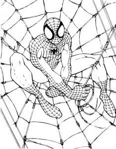 Gambar Mewarnai Spiderman Keren