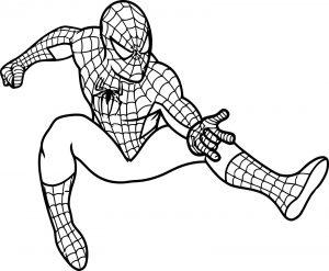 Gambar Mewarnai Spiderman Laba Laba