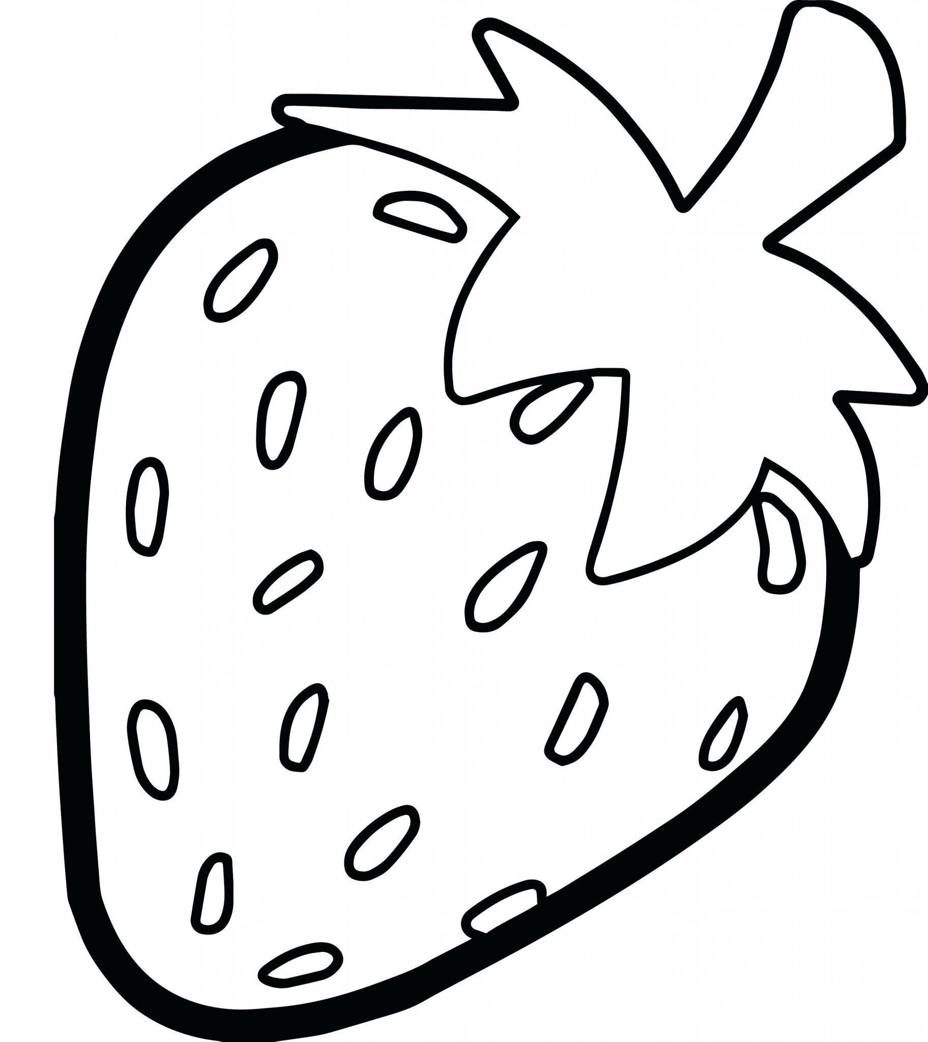 Kumpulan Gambar Mewarnai Buah Strawberry Anak Tk Marimewarnaicom