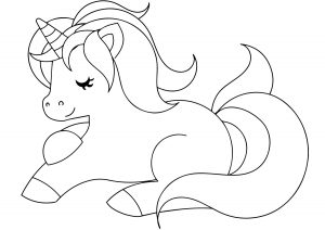 Gambar Mewarnai Unicorn Anak Anak